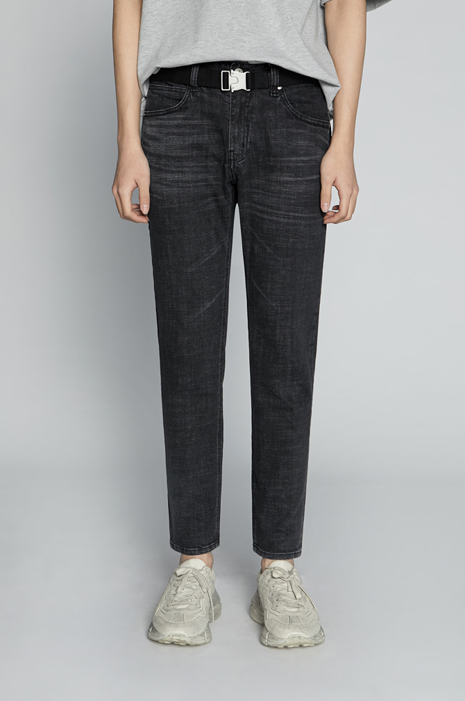Liam Slim Fit Wshd Jeans[50%OFF]블랙 워싱 데님