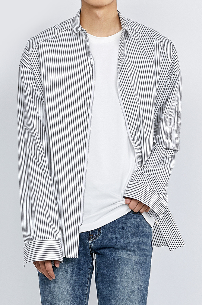 STRIPE MA-1 ZIP-UP SHIRTSWeekly best 1위,리오더