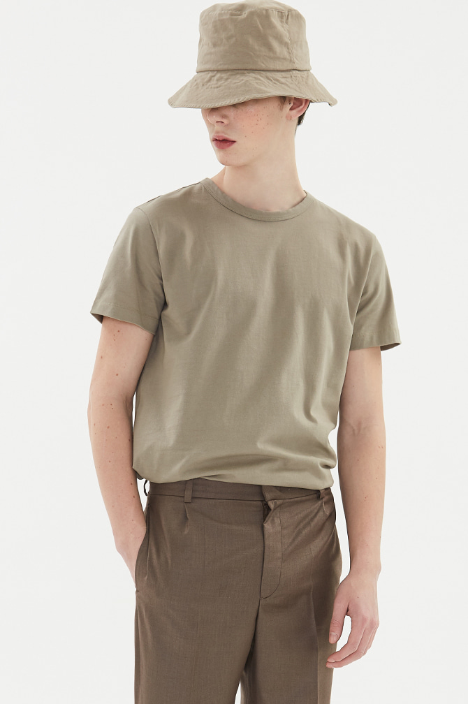 BASIC SOFT T-SHIRTS khaki