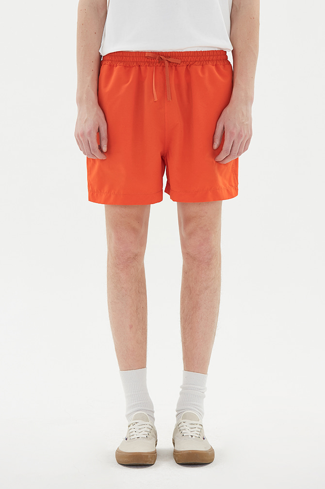 COLOR HALF PANTS orange