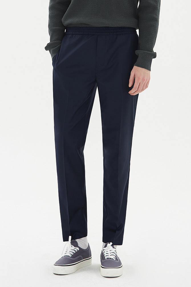 BANDING SLACKS navy