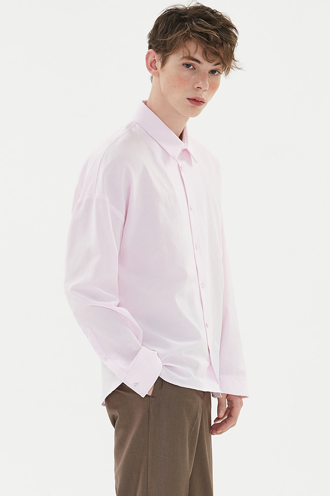 STANDARD LOOSE FIT SHIRTS pink - 더니트컴퍼니