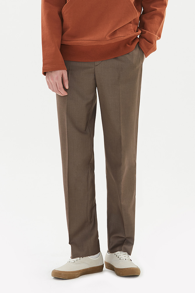 WIDE SLACKS brown