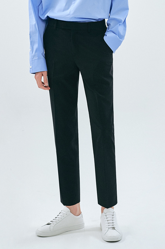 SLIM FIT HALF BANDING SLACKS2만장 판매, 600개의 리뷰