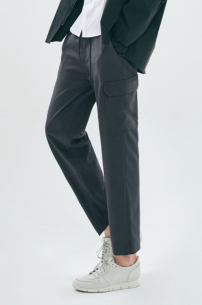 STRING CARGO CROP PANTS