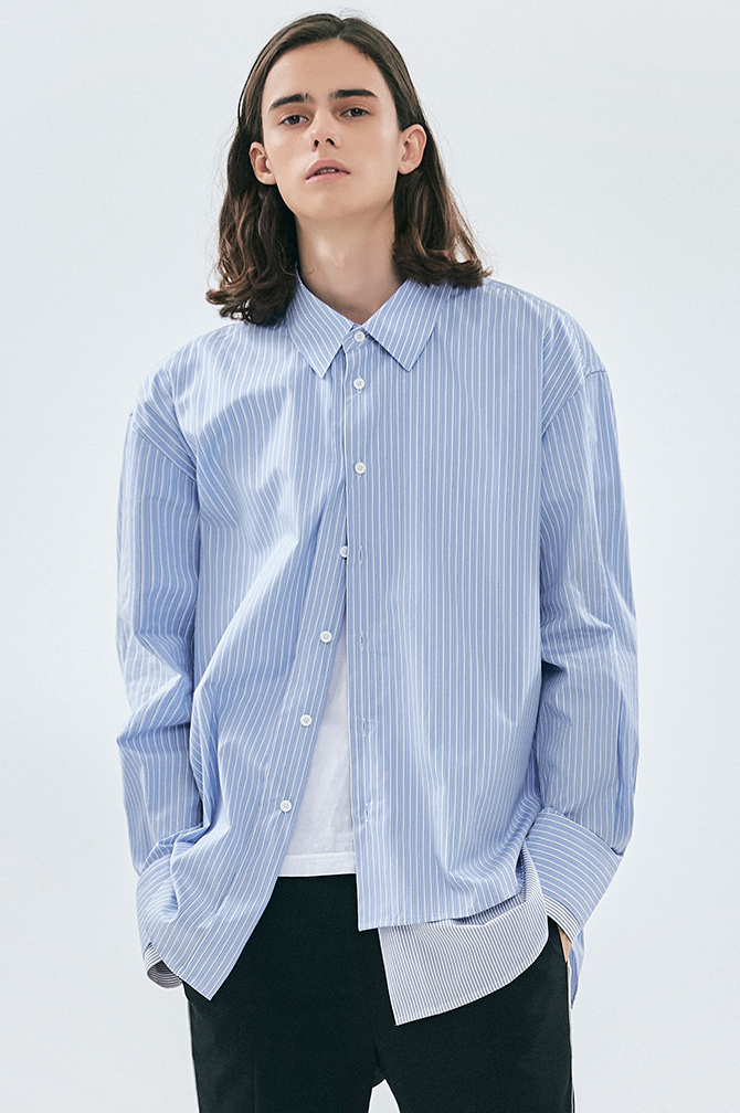 HALF-LAYERED SHIRTSKUWAMURA 일본 수입 원단