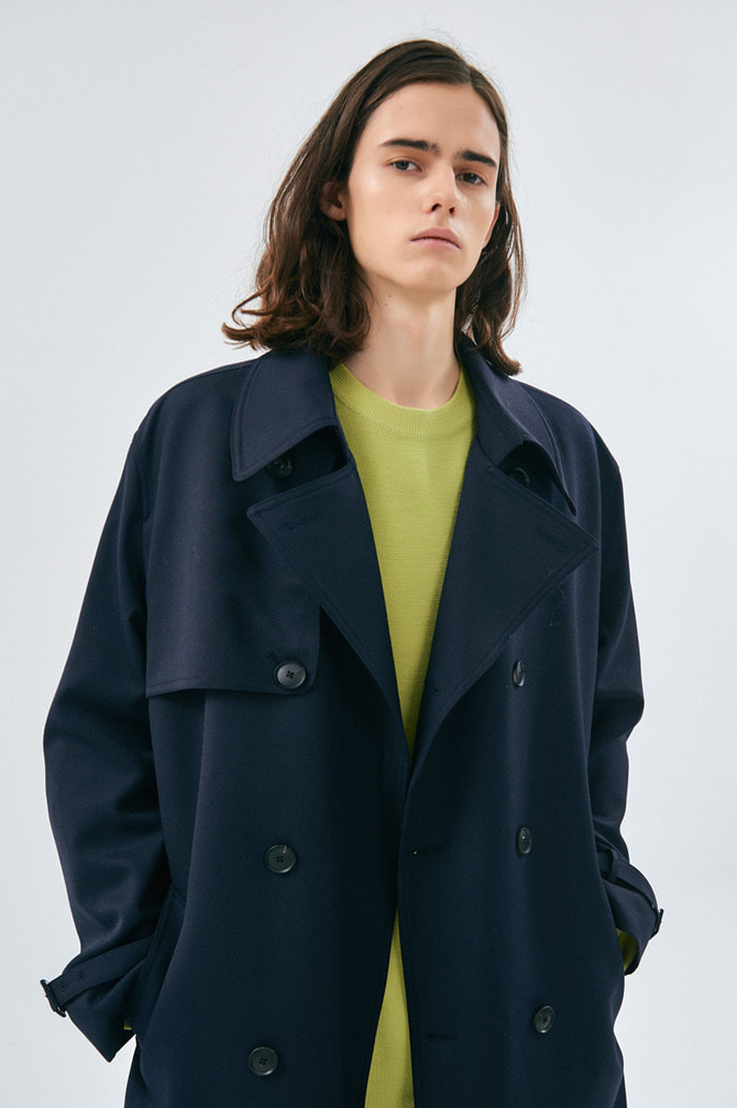 WOOL BELTED TRENCH-COAT울마크컴퍼니 인증 원단