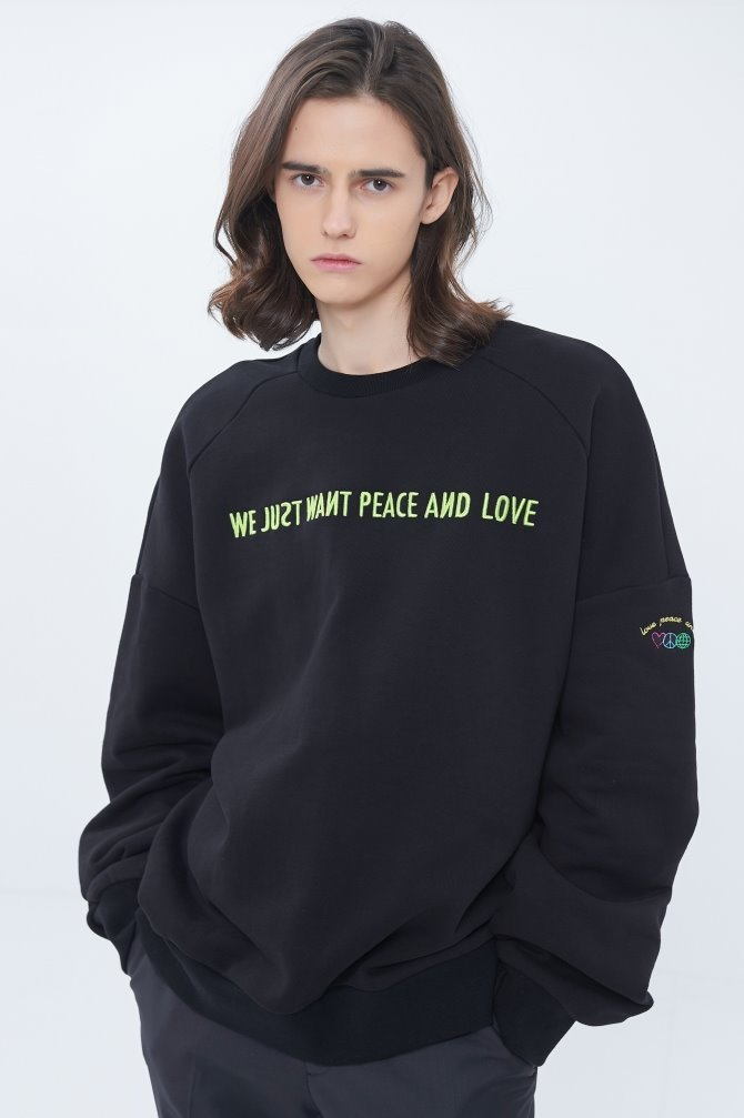 LETTERING EMBROIDERY SWEATSHIRT