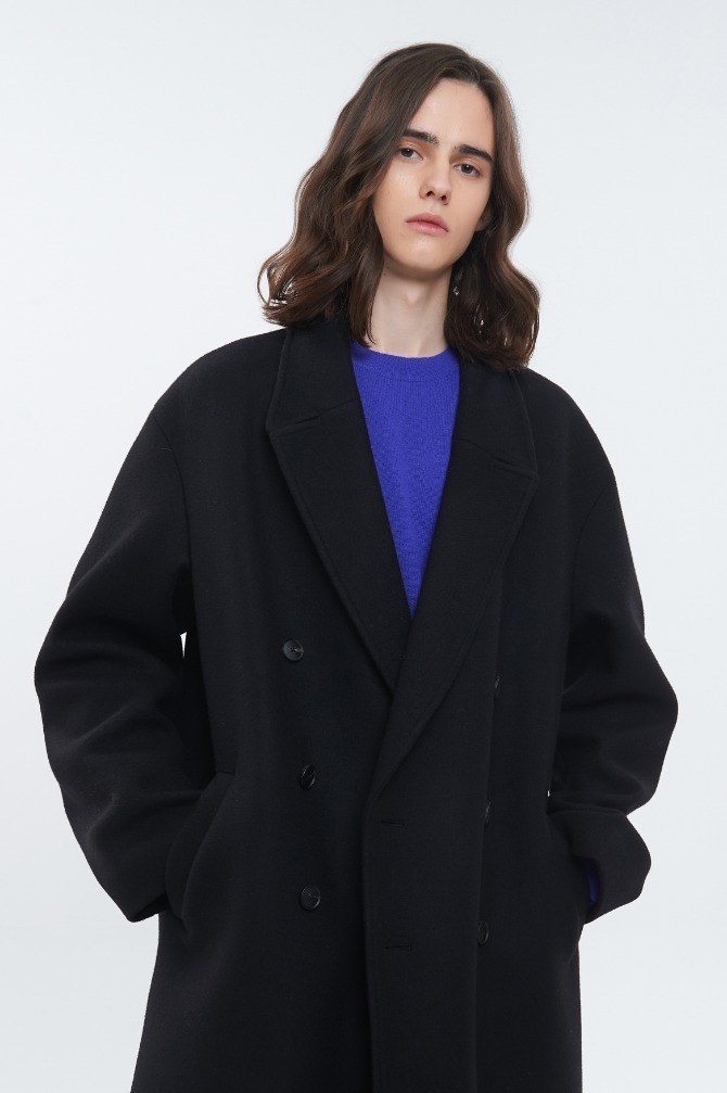 OVER FIT DOUBLE CASHMERE COAT 울마크 컴퍼니 캐시미어,울 혼방소재